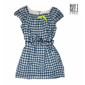 Crewcuts Girls Blue Gingham Short Sleeve Dress 4